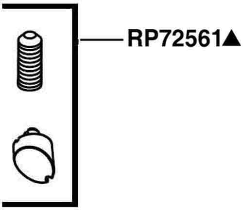 Delta Faucet RP72561PN Cassidy Set Screw and Button-Diverter