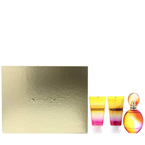 Missoni 3 Peice Gift Set Edt Spray for Women, Perfumed Bath & Shower Gel, Body Lotion, 3 Count ()