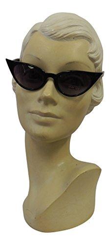 UV400 ojo Retro nbsp;estilo Fashion nbsp;mujer gato 50s 1950 de de de sol Vintage Negro gafas 7xqRvIwq