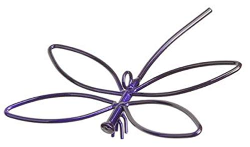 Wrought Iron Purple PowderCoated Dragonfly - Has A Hole for Hanging - Hand Made by Amish of Lancaster County PA