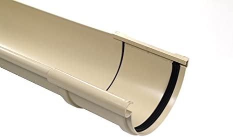 Jonction longue /à joints mont/és PVC 25 demi-ronde gris Goutti/ère PVC 25 demi-ronde