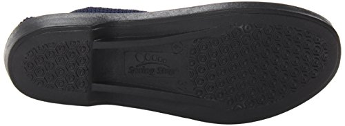 Spring Step Womens Flat Navy Tenero
