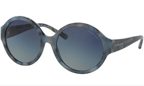Michael Kors MK2035-32094L Sunglasses, CADET BLUE MARBLE Frame 55mm w/ Blue Gradient Lens