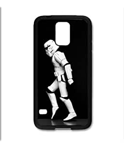 Samsung Galaxy S5 SV Black Rubber Silicone Case - Storm Trooper Moon Walk