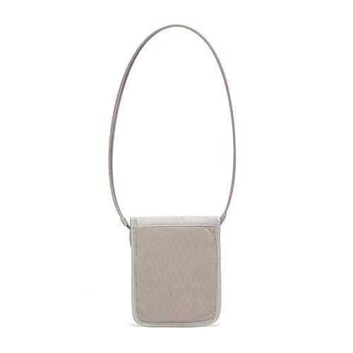 31DENuH3ekL - Pacsafe Coversafe X75 Anti-Theft RFID Blocking Neck Pouch, Neutral Grey