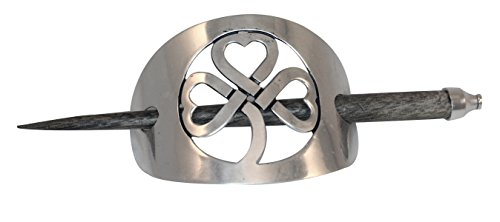 Celtic Shamrock Silver Plated Hairslide