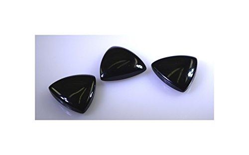 noir onyx pierres précieuses en vrac 1 pièces 13 x 13 mm trillions noir cabochon pierres précieuses