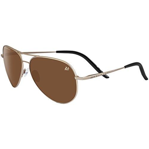 Serengeti Panarea (Carrara) 24 Hour Le Mans Safety Glasses, Soft Gold/Polarized - Lightweight Sunglasses Serengeti