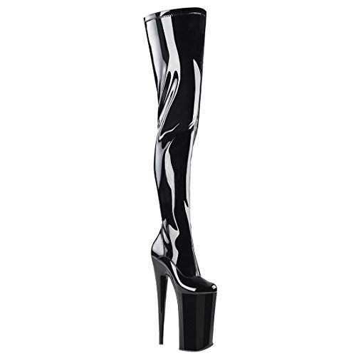 Pleaser 4000 blk Stretch Pat Beyond Blk YHxgqpY