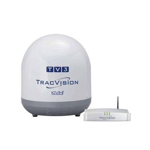 (KVH TracVision TV3, MFG# -01-0368-07. Satellite TV system for use with N. American systems. 14.5