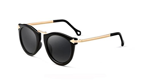 GAMT Metal Frames Brand Design Fashion Cat Eye Round Polarized Sunglasses for - Gamt Sunglasses