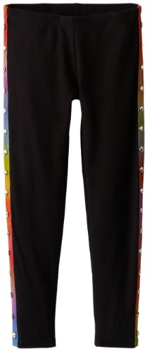 Flowers by Zoe Girls 7-16 Legging with Rainbow and Stud Binding