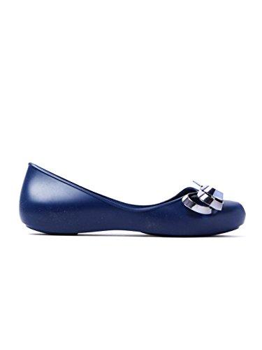 Zaxy Damen Marine Luxury Ribbon Ballerina Flats