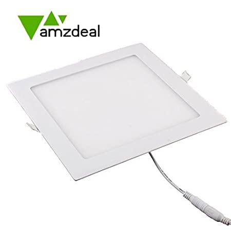 Amzdeal 18w led square recessed ceiling panel down light ultra slim amzdeal 18w led square recessed ceiling panel down light ultra slim down lamp for dining aloadofball Images