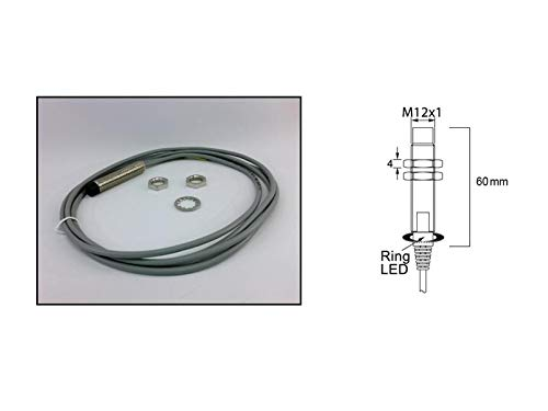 RADWELL VERIFIED SUBSTITUTE NBB212GM60WSSUB Replacement of PEPPERL & Fuchs NBB2-12GM60-WS, Proximity Sensor - INDUCTIVE, Cylindrical, Chrome Plated Brass, UNSHIELDED, 12MM Threaded Body, 4MM Range