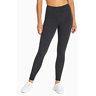 MARIKA Magic Tummy Control Leggings - with Power Mesh - Coolmax Gusset Heathered Charcoal X-Large