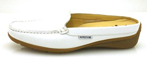 Mephisto Nedina Sandalias De Cuero Zapato Abierto Zapatos Piel Zuecos blanco