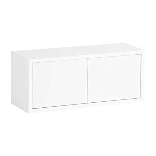 arne ウォールシェルフ 木製 石膏ボード ウォールボックス 棚 奥行き21cm 耐荷重15kg Wall Box Seven DX B 単品S ホワイト B071W94CGQ 長方形(扉付き)Sサイズ|ホワイト ホワイト 長方形(扉付き)Sサイズ