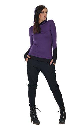 3elfen Mujer Camisetas Manga Púrpura Larga De Hoodie BBr6p