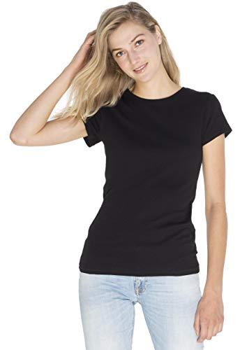 SOIZZI Fashion Women's 100% Organic Cotton (Global Organic Textile Standard) Basic Crew Neck Short Sleeve Tee ()
