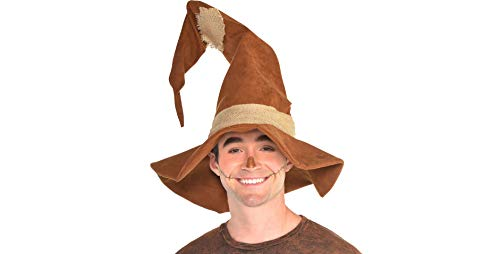 Amscan Scarecrow Hat Halloween Costume Accessories for Adults, One Size ()