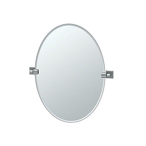 Cheap  Gatco 4059 Elevate Frameless Oval Mirror, Chrome, 26.5