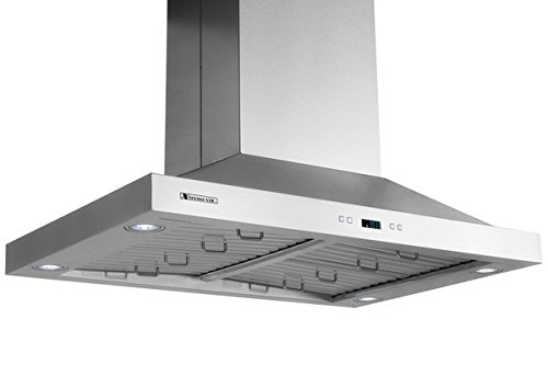 XtremeAir PX05-I42 900 CFM LED lights, Both Side accessible Control, Baffle Filters with Grease Drain Tunnel, 1.0mm Non-Magnetic Stainless Steel Seamless Body, Island Mount Range Hood, 42'' by XtremeAIR (Image #5)