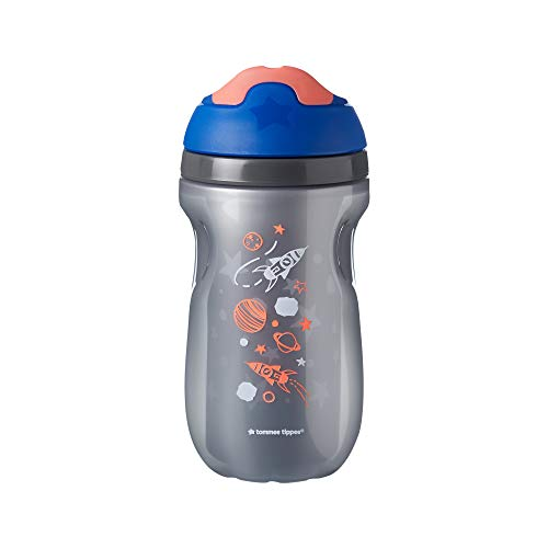 31DEkll0WlL - Tommee Tippee Non-Spill Insulated Sippee Toddler Tumbler Cup, 12+ Months, 9 Ounce, 3 Count, Boy