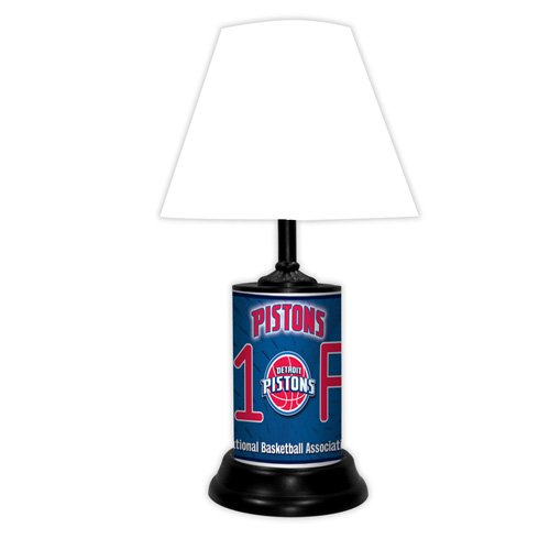 Detroit Pistons Table - Detroit Pistons NBA #1 Fan Team Logo License Plate made Desk Lamp with shade