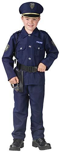 Fun World 113092L Little Boy's Large/Police Man Child Cstm Children's Costume, Large, -