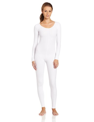 Capezio Women's Long Sleeve (White Unitard)