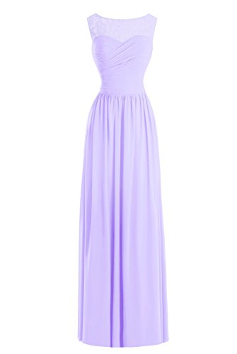 Scoop Sheer Dasior Women Gown Evening Dress Lace Long Lilac s Mother rq6IB6t