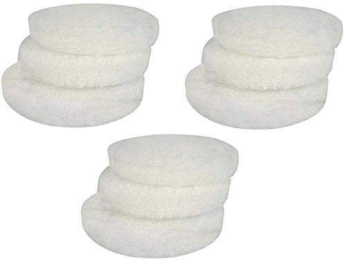 EHEIM Fine Filter Pad (White) for Classic External Filter 2211 - 9 Total Filters (3 Packs with 3 per Pack)