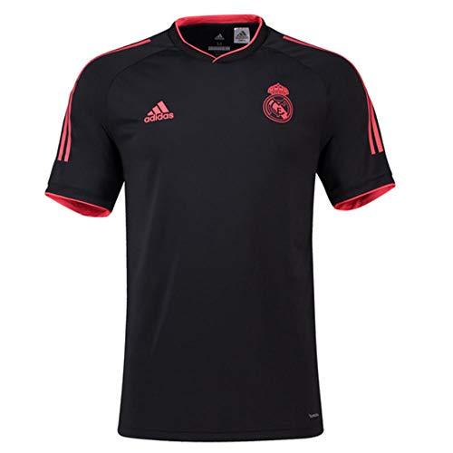 adidas 2018-2019 Real Madrid UCL Training Football Soccer T-Shirt Jersey (Black) (Black Real Madrid Jersey Xxl)
