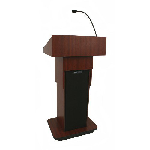Amplivox W505A - Executive Adjustable Column Non-Sound Lectern - Sculpted Base - 22
