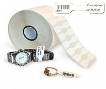 Zebra Point of Sale/POS Thermal Jewelry Tags without Flap 2.2