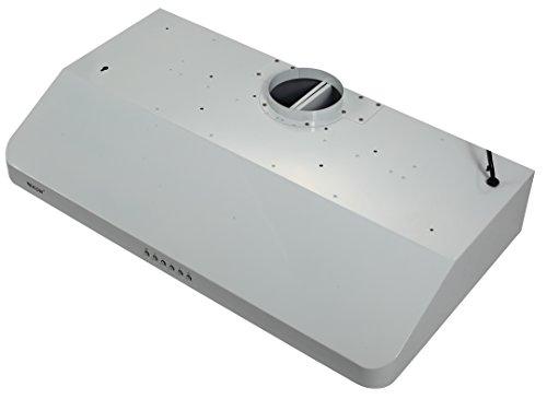 EKON NAC01 Super Slim Under Cabinet/Wall Mounted Kitchen Range Hood / 4 Speeds Soft Touch Electronic Control Panel / 2 Pcs 3W Led Lamp /600 CFM (WHITE, (Under Cabinet Electronic)