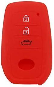 Shanhua Autoschlüssel Cover Silikon Key Shell Key Case Skin Jacke Fit T Oyota Highlander Land Cruiser Riez Rav4 Camry Prado Rot Auto