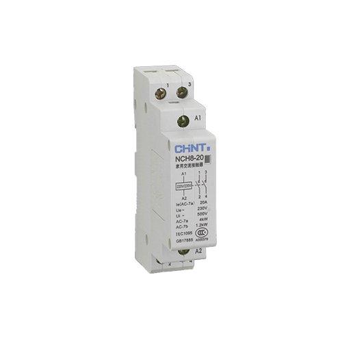 Chint NCH8-20-02 Modular AC Contactor, 20 A, 230V, 2 NC, 2 Poles Chint Europe (UK) Ltd