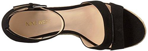 Sandalo Con Zeppa Jabrina In Pelle Scamosciata Delle Nove Donne Di Colore Nero