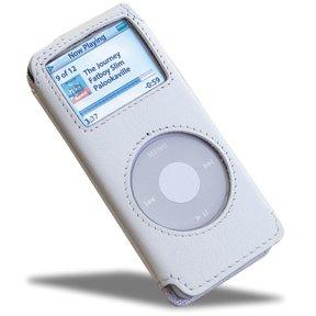 (Covertec Luxury Pouch Case for iPod Nano - Nappa Leather (Snow White))