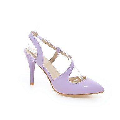 LvYuan Mujer-Tacón Stiletto-Otro-Sandalias-Exterior Oficina y Trabajo Informal-PU-Morado Plata Almendra Purple