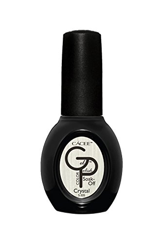 Silver Chrome Metallic Gel Nail Polish, Crystal, Professional Color Lacquer by Cacee 335 0.5oz