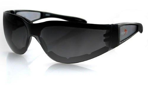 (Zan Headgear ESH201 Shield II Sunglass Black Frame Smoked Grey Lens)