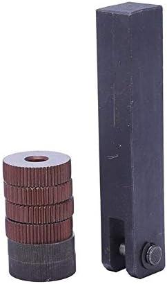 No Logo Rändelfräswerkzeuge 7X einzelnes Rad Gerade Linear Rändelwerkzeug Set 0 5mm 1.5mm 2mm Pitch Hand-Werkzeug-Sets für Metalldrehmaschine