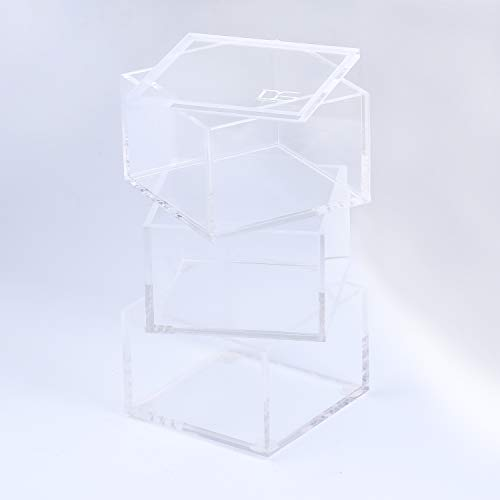 - Acrylic 3 Tier Paper Clips Holder - Stackable Clear Organizer by Draymond Story (Thank You Gifts Graduation)