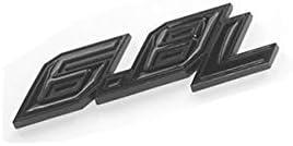 2pcs New OEM 6.8L Emblem 6.8 L Side 3D Logo Badge Replacement for F250 F350 F450 Black Red