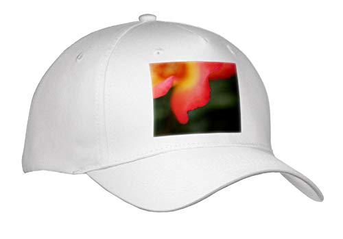 3dRose Stamp City - Flowers - Macro Photograph of The Edge of a Playboy Rose Petal. - Adult Baseball Cap (Cap_315583_1)