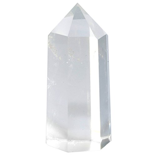 rockcloud Rock Quartz Crystal Point Faceted Prism Wand Reiki Stone Figurine