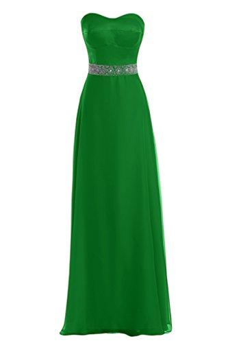 Diseño en forma de corazón de la Toscana de novia de Gasa de satén a bola vestidos de noche vestidos de fiesta largo Verde